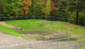 Quarry Ridge Pond after reconstruction