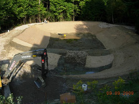 Pond during reconstruction