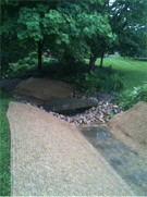 Stormwater treatment swale