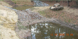 Central drainage channel regraded